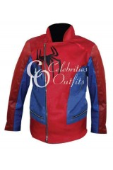 Male Spider-Man Inspired Red Leather Jacket Costume