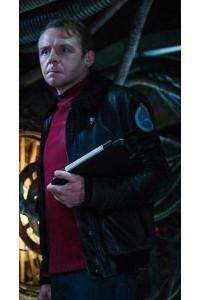 Simon Pegg Star Trek Beyond Scotty Fur Jacket
