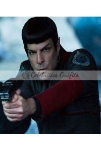 Star Trek Beyond Zachary Quinto Spock Grey Jacket