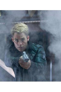 Chris Pine Star Trek Into Darkness Kirk Leather Jacket