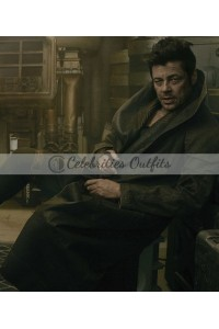 Benicio Del Toro Star Wars The Last Jedi Trench Coat