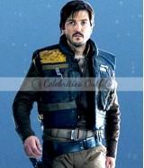 Diego Luna Star Wars Rogue One Captain Cassian Andor Blue Vest