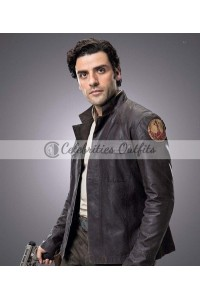 Star Wars The Last Jedi Poe Dameron Brown Leather Jacket