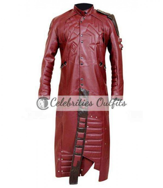 19b332de6 Peter Quill Guardians Of The Galaxy Leather Coat