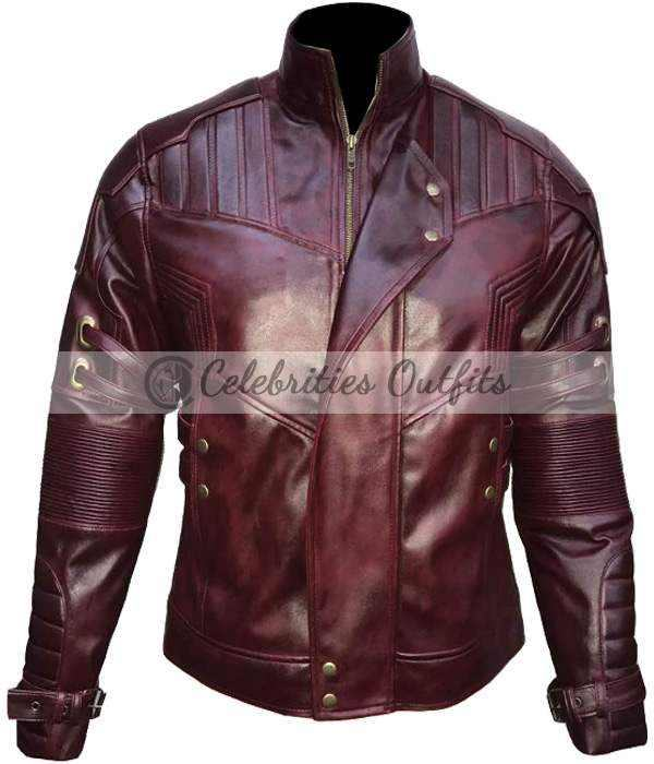 Star-Lord Guardians Of The Galaxy Vol. 2 Wax Leather Jacket