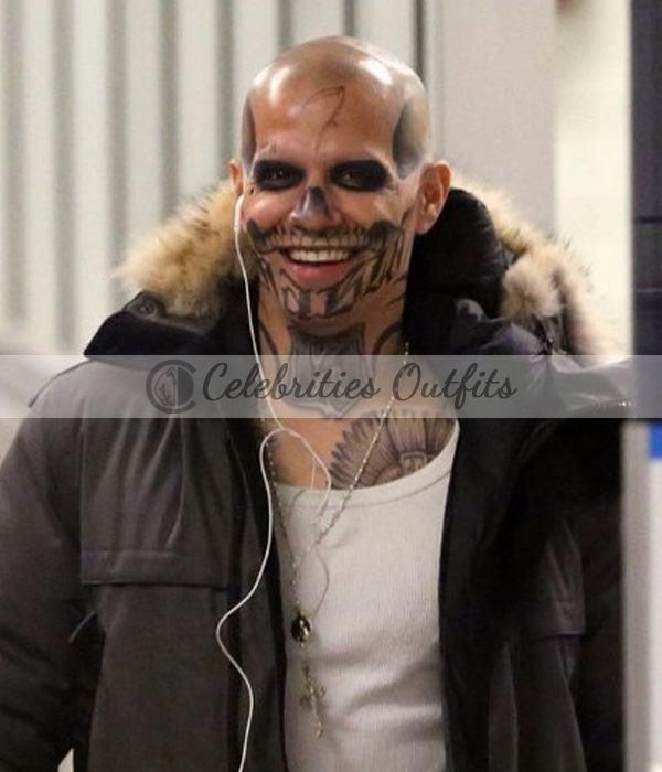 Jay Hernandez Suicide Squad El Diablo Fleece Jacket