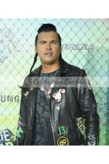 Adam Beach Suicide Squad Slipknot Black Leather Jacket