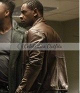 David Harewood Supergirl S4 J'onn Brown Leather Jacket
