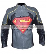 Superman Vs Batman Inspired Designer Leather Jacket