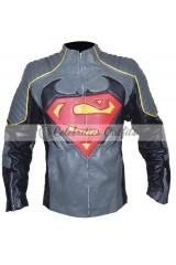 Superman Vs Batman Inspired Designer Leather Jacket