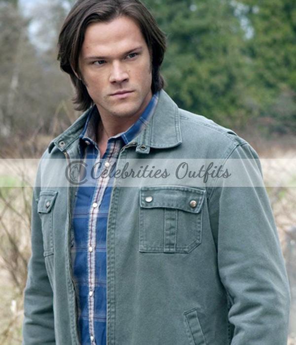 Jared Padalecki Supernatural Sam Winchester Green Jacket