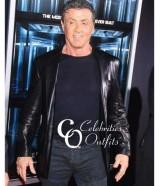 Escape Plan Premiere Sylvester Stallone Black Leather Jacket