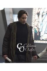 David Duchovny The X-Files Long Shearling Coat