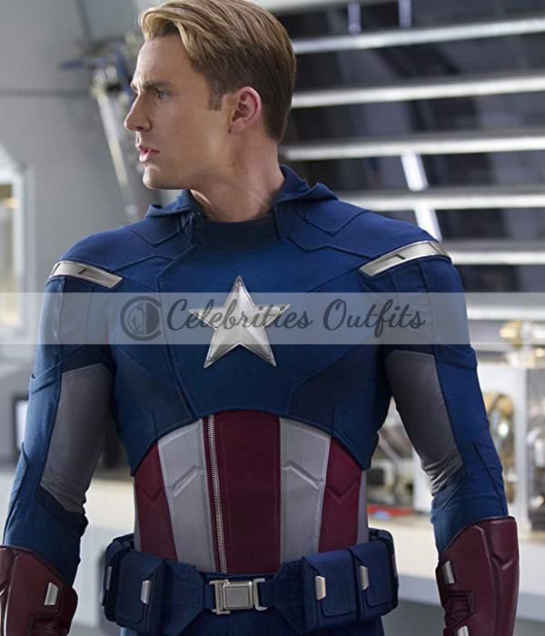 Captain America The Avengers Chris Evans Leather Jacket