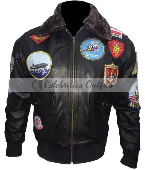 Top Gun Tom Cruise Maverick Flight Bomber Jacket
