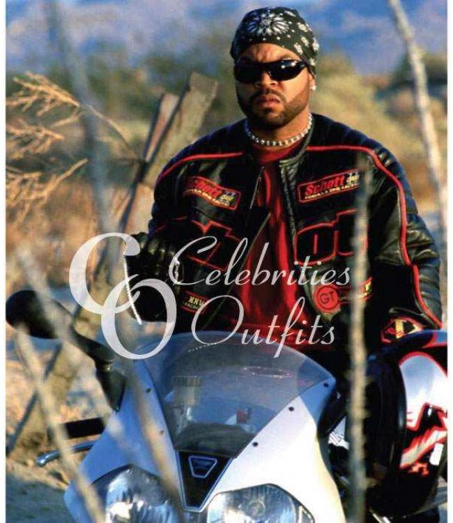 Torque Movie Ice Cube Trey Black Motorcycle Leather Jacket