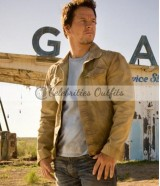 Transformers Age of Extinction Mark Wahlberg Brown Cotton Jacket