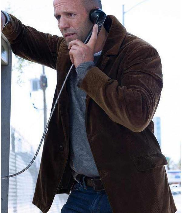 Jason Statham Wild Card Suede Leather Jacket
