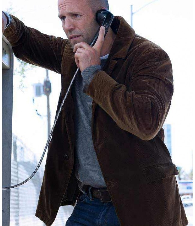 Wild Card Movie Jason Statham Brown Suede Leather Jacket