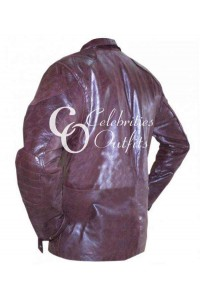 I Robot Will Smith Maroon Leather Jacket