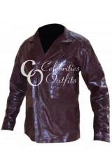I Robot Will Smith Maroon Leather Jacket