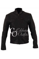 The Other Guys Mark Wahlberg Black Leather Jacket