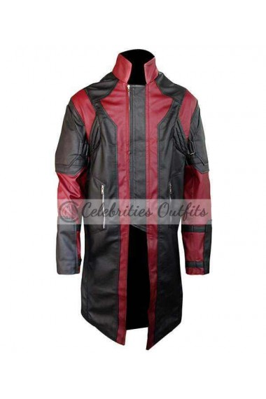 Avengers Age Of Ultron Hawkeye Leather Costume Coat
