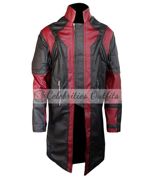 Avengers Age Of Ultron Hawkeye Leather Costume Coat