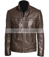Brett Dalton Agents of S.H.I.E.L.D. Brown Leather Jacket