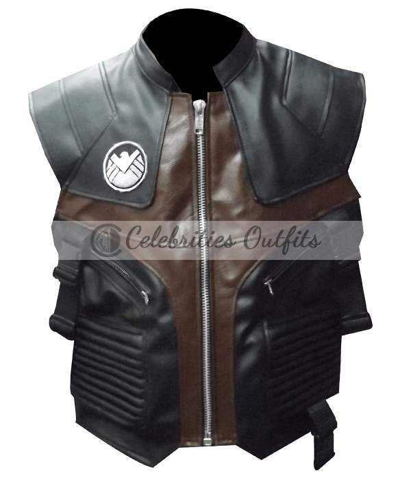 The Avengers Jeremy Renner Hawkeye Leather Vest
