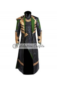 Tom Hiddleston Loki The Avengers Cosplay Costume Coat