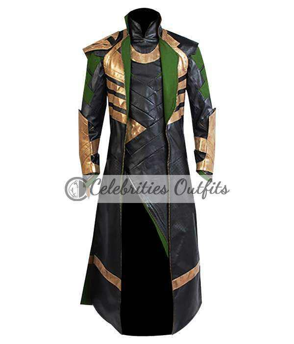 Tom Hiddleston Loki The Avengers Cosplay Costume Coat