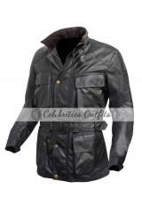 Tom Hardy Dark Knight Bane Black Leather Jacket