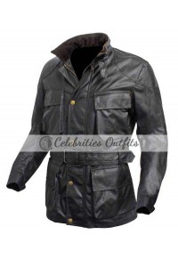 Tom Hardy Dark Knight Bane Black Leather Jacket