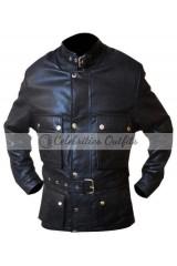 Curious Case Of Benjamin Button Brad Pitt Black Motorcycle Jacket