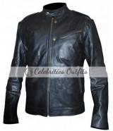 Jon Seda Chicago P.D. Black Leather Jacket