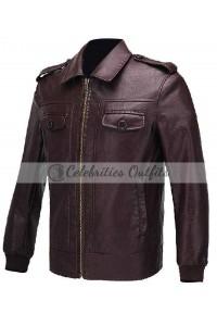 Avengers Chris Evans Steve Brown Leather Jacket