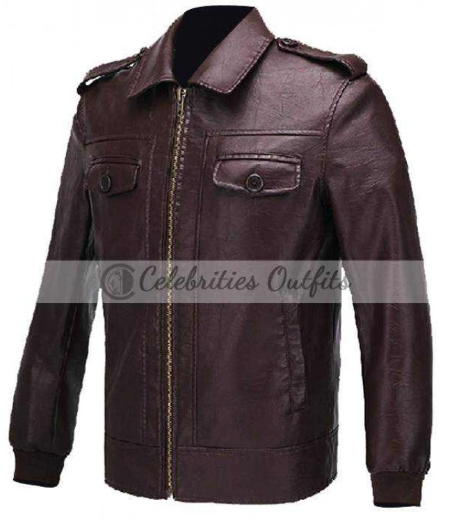 72eb1c0c2 Avengers Steve Rogers Brown Leather Jacket