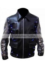 Chris Jericho Light Up WWE Y2J Leather Jacket