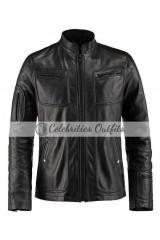 Star Trek Chris Pine James Black Leather Jacket