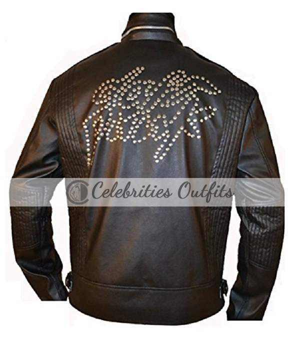 World Tour Daft Punk 2007 Electroma Black Leather Jacket