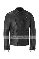 Belstaff Launch David Beckham Black Motorcycle Jacket