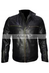 David Beckham Brazil Motorcycle Quilted Jacket