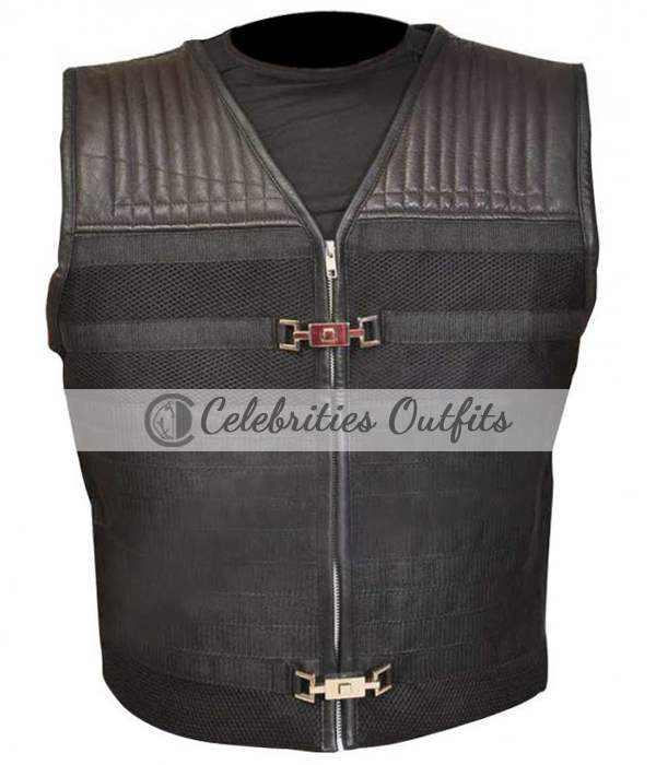Sylvester Stallone Expendables 3 Leather Vest Jacket