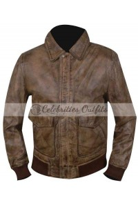 Ansel Elgort The Fault in Our Stars Brown Bomber Jacket