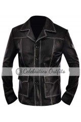 Fight Club Brad Pitt Black Tyler Durden Leather Jacket