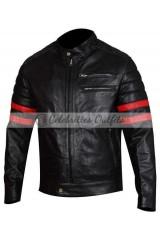 Tyler Durden Fight Club Black Jacket Red Stripes