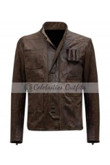 Han Solo Star Wars Force Awakens Leather Jacket