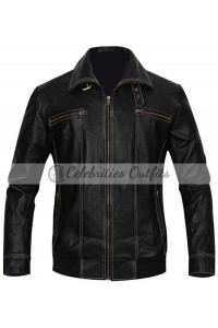 Bruce Willis Good Day Die Hard Brown Leather Jacket