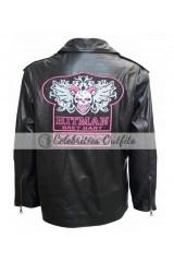 WWE Hitman Bret Hart Black Replica Leather Jacket